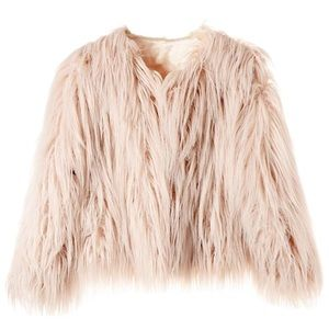 Jackets & Blazers - Pink faux fur coat